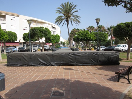 Stage in the square