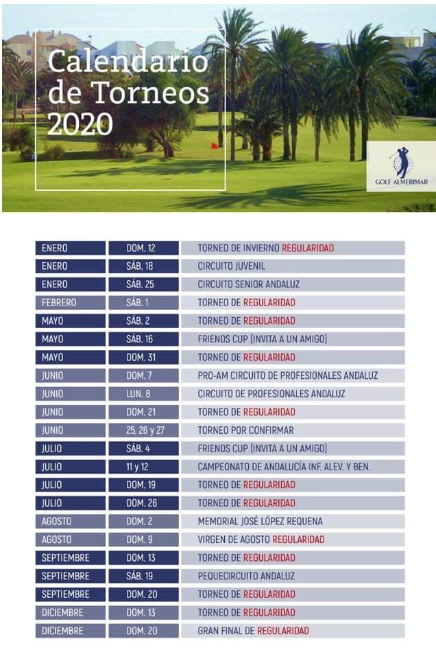 2020 Almerimar Golf Competitions