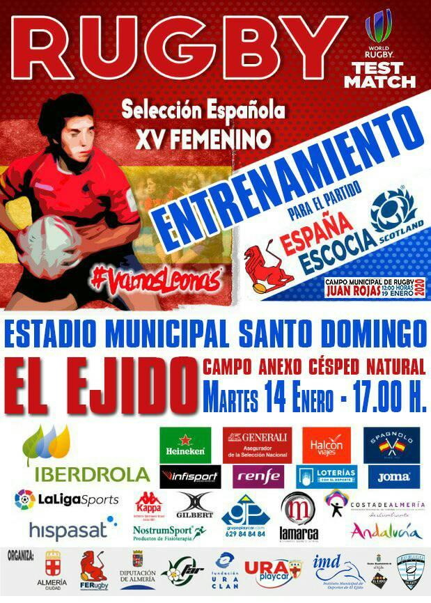 El Ejido Ladies Rugby 14 January 2020