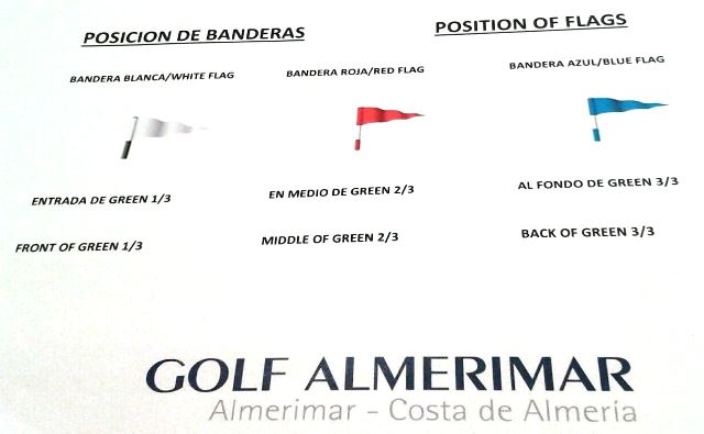 Flag positions at Almerimar - May 2016